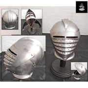 German Maximilian Helmet - 16 Gauge